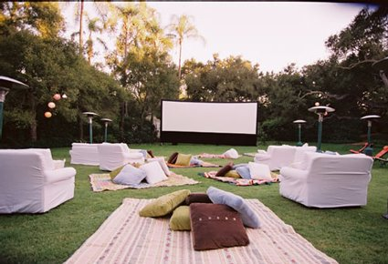 Outdoor Party Idea Movie Night